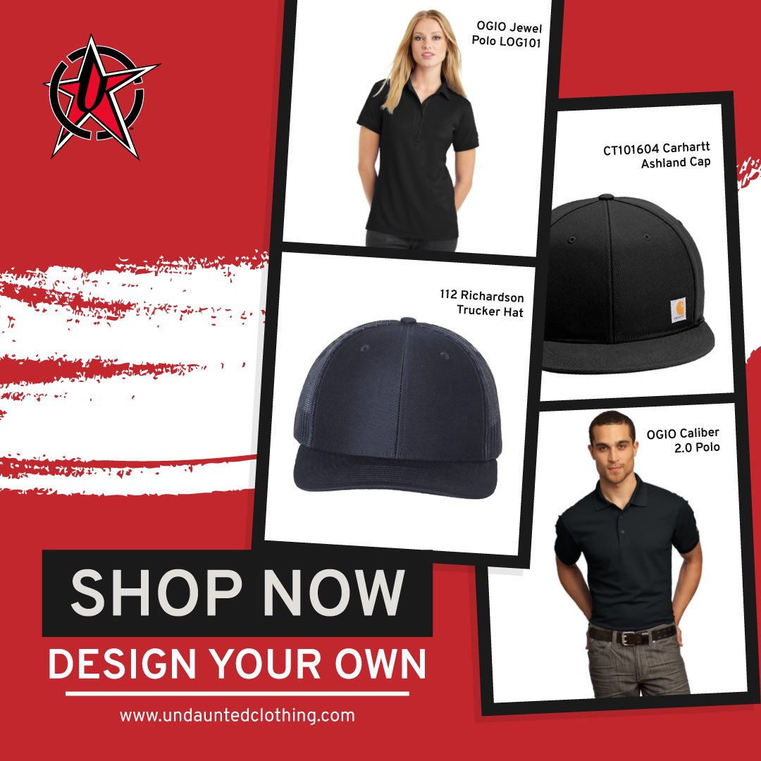 Design Your Own!!!!  New Items Added Weekly. Carhartt Hats, Richardson Hats, Ogio Polos and More. Add Your Design and Shop Today! #designyourown pic.twitter.com/Zgh7RGyI5H