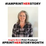 Image for the Tweet beginning: This #PrintHERstoryMonth Q&A is brought