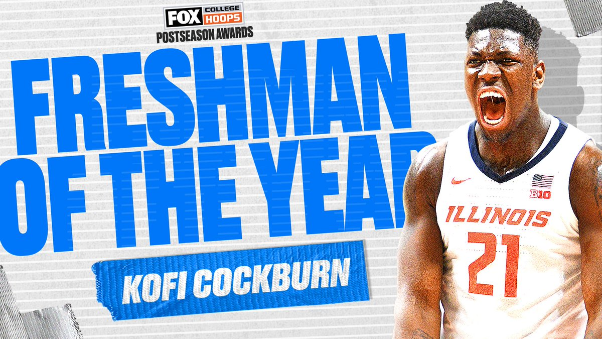 We asked, you answered. Your Freshman of the Year is @IlliniMBB's @kxng_alpha, as voted on by CBB on FOX fans! 🙌👑