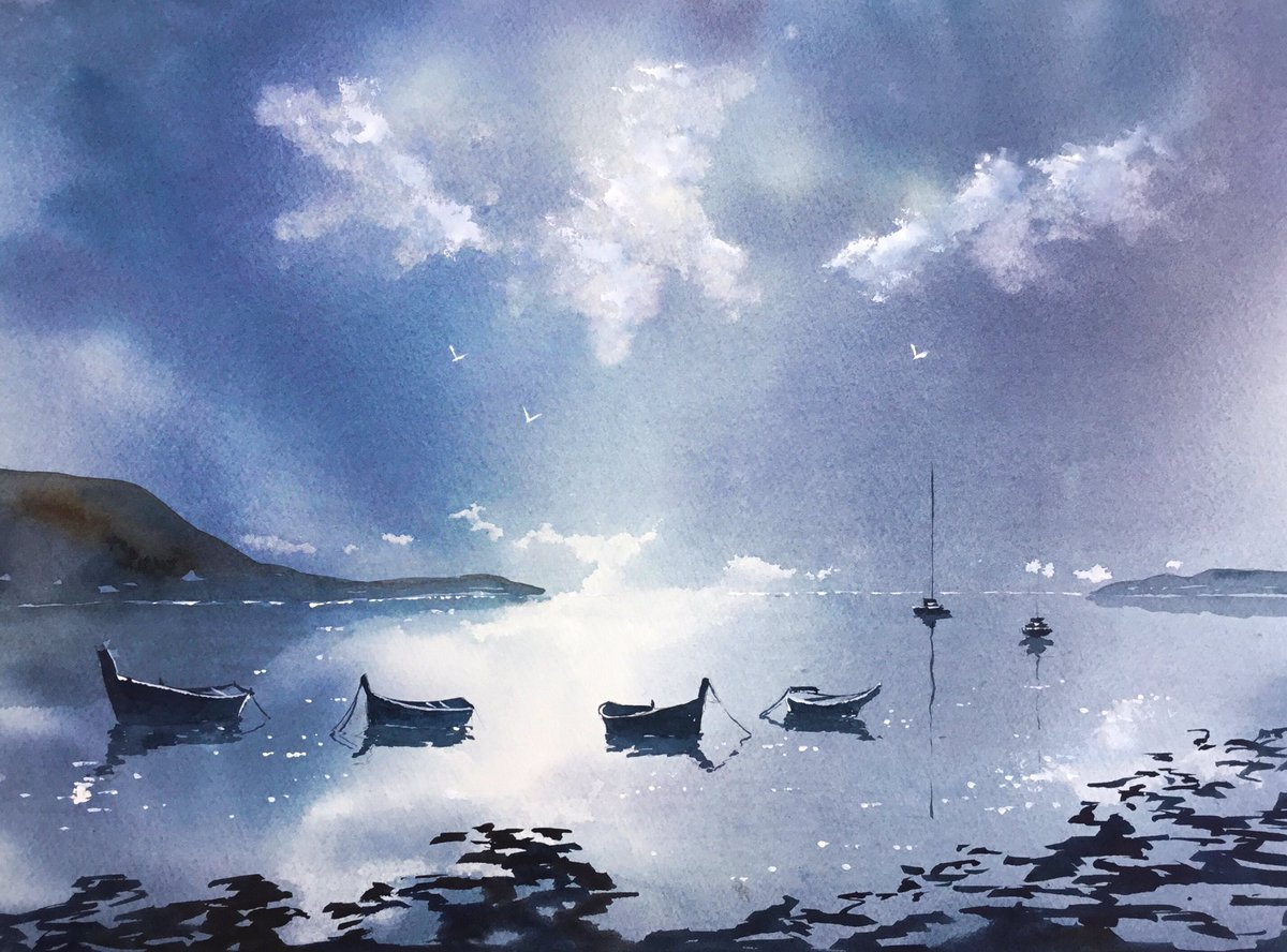 Watercolur titled ....Only dreaming ....  #art #beauty #gallery #ireland #donegal #watercolourpic.twitter.com/WSLmIKOKE3