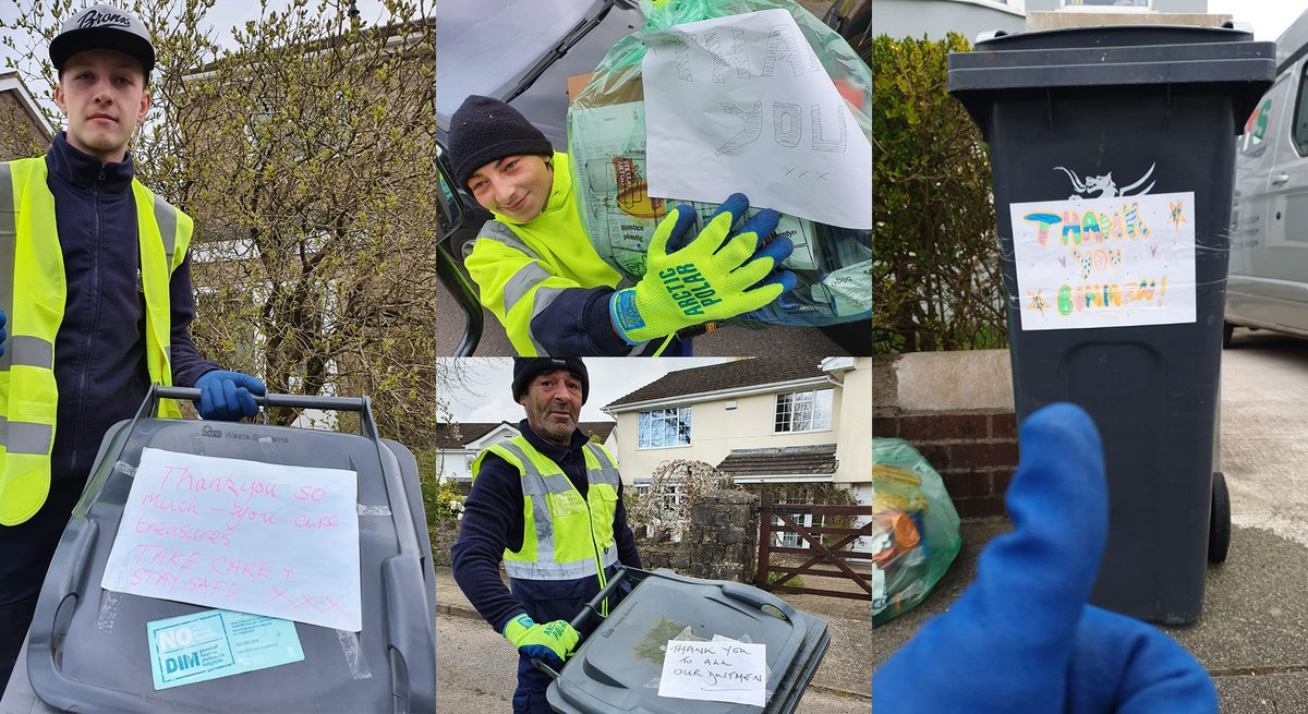 Cardiff residents show appreciation to refuse collectors bbc.in/2JvwTC2