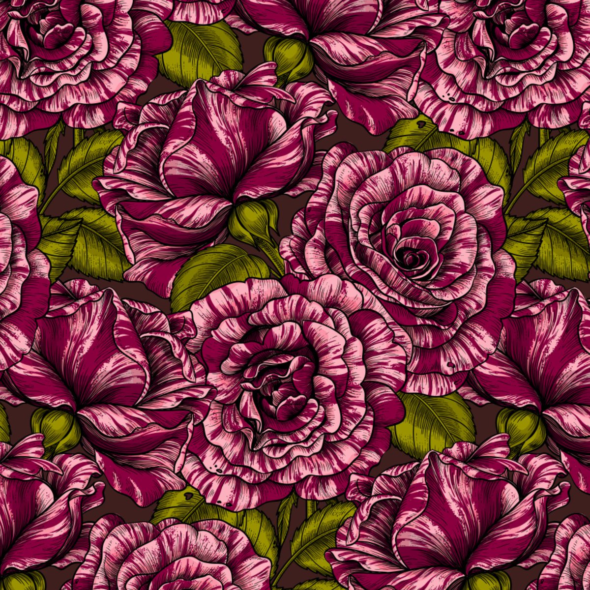 """two colorways of my latest pattern""""Roses for you"""" #pattern #patterns #surfacedesign #floral #illustration #roses #rose #fabric #print #design #vector pic.twitter.com/mfEI9JkIQT"""
