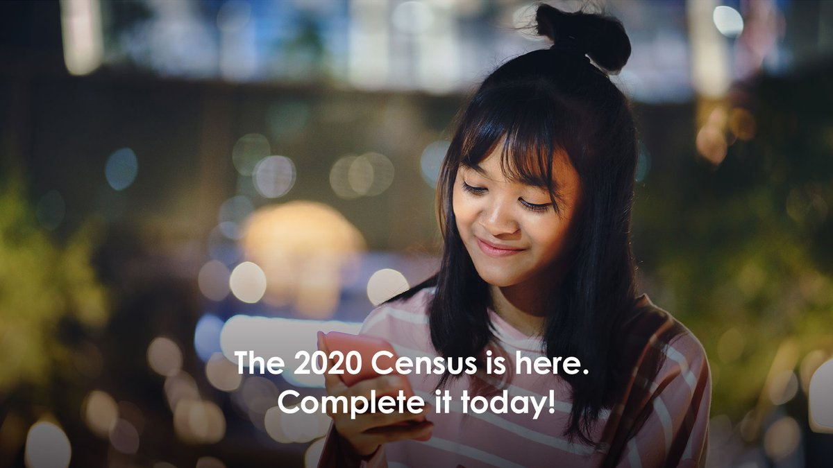 You can complete the #2020Census online, by phone, or by mail. 2020census.gov/?cid=23665:16x…
