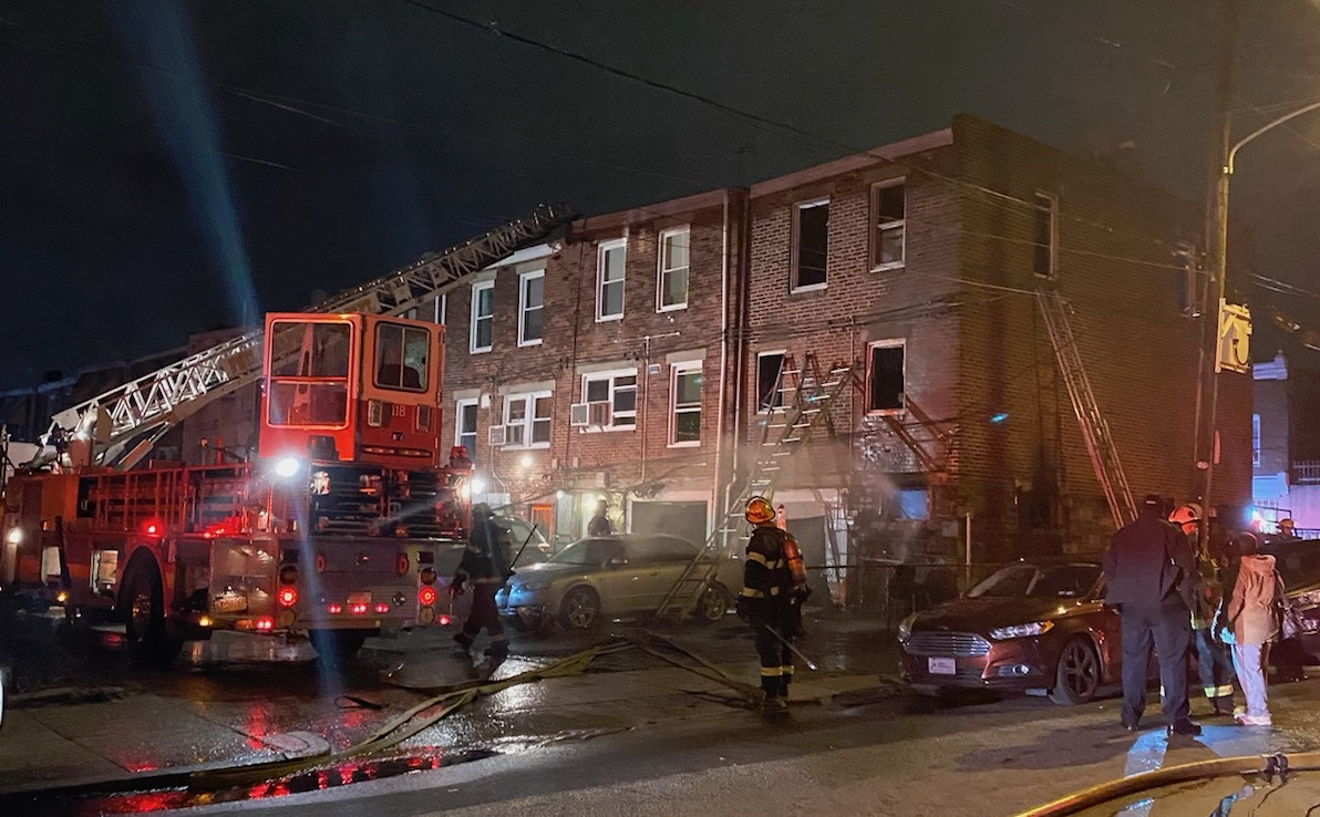 This fire near 63rd & Girard in West Philly injured one member and was placed under control at 3:06 a.m. #24x7x365