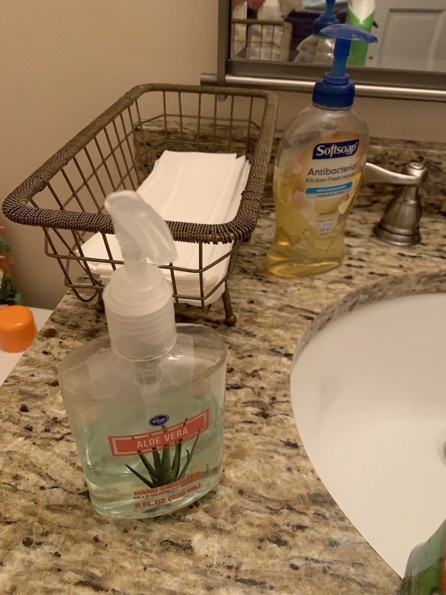 Don't forget to wipe down the OUTSIDE AND TOP of your sanitizer and hand washing soap dispensers! #germs #clean
