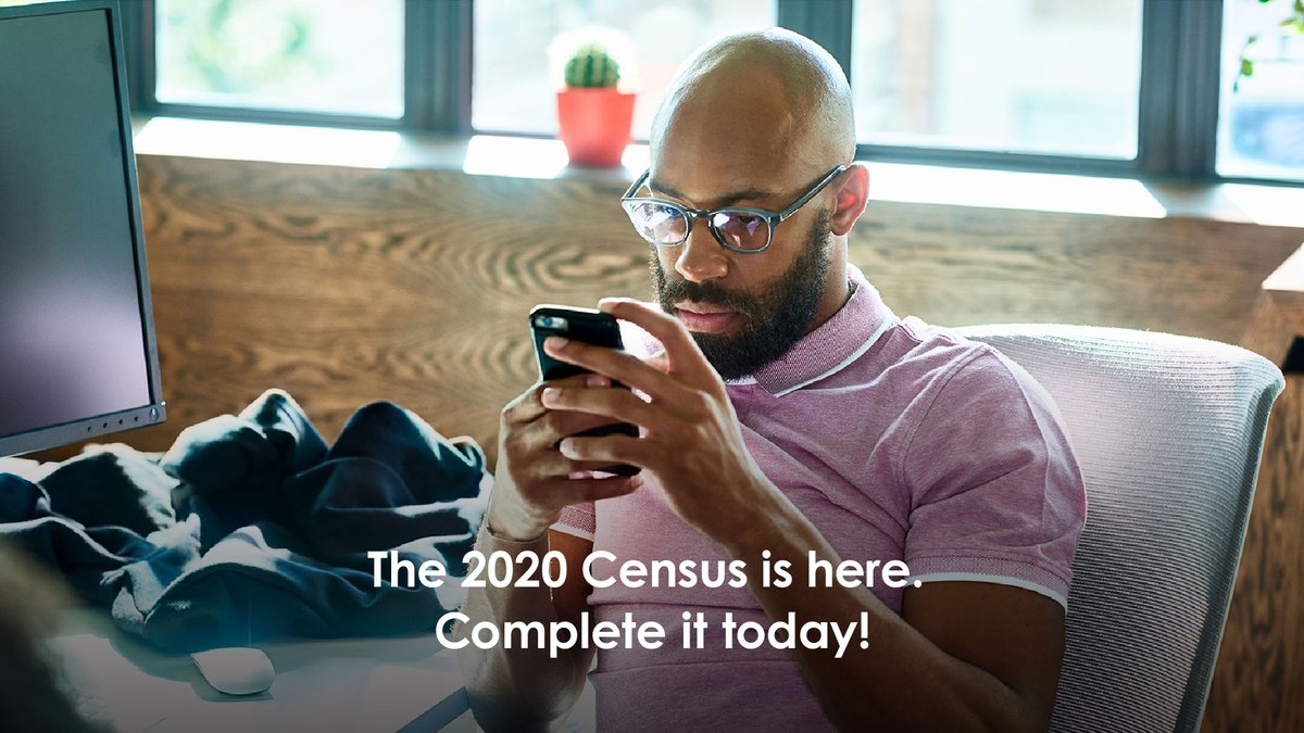 You can complete the #2020Census online, by phone, or by mail. 2020census.gov/?cid=23687:16x…