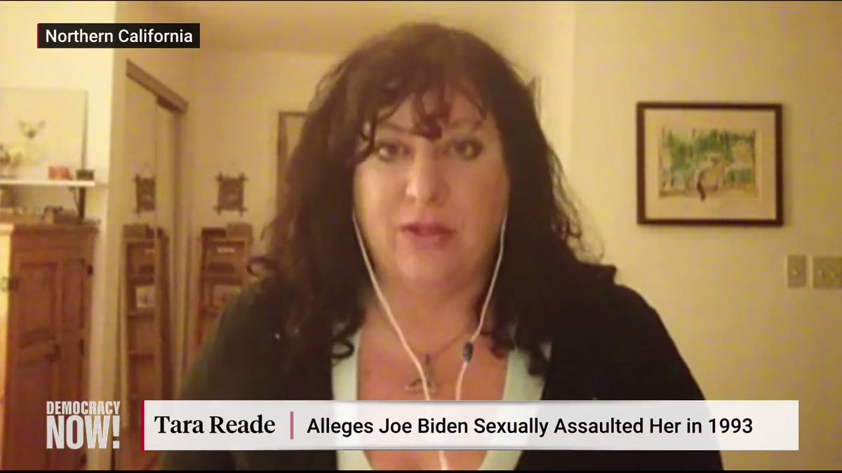 "Tara Reade, a former staffer in Joe Biden's Senate office, says he sexually assaulted her in 1993. ""I actually tried to tell this story to some extent in 1993,"" she says. ""But I was too afraid."""