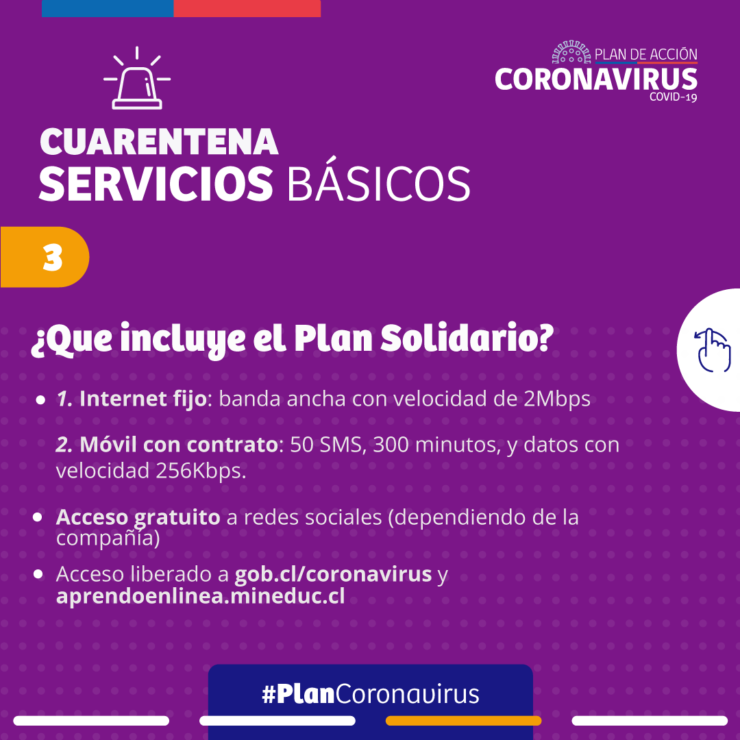 RT @ElQuiscoMuni Compartimos el plan de medidas del Gobierno para ayudar al 40% de la población más vulnerable en el pago de las cuentas de luz eléctrica, internet, agua y alcantarillado. #CuidémonosEntreTodos #ElQuisco #Covid19