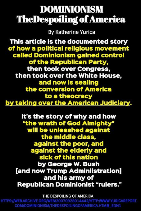 by the KOCH RWing group running trumps administration & todays GOP are not going to protect the public... they carefully planned & worked toward a moment such as this... #Coronavirus  is a gift to their efforts. Google The Council on National Policy & #Dominionism ...