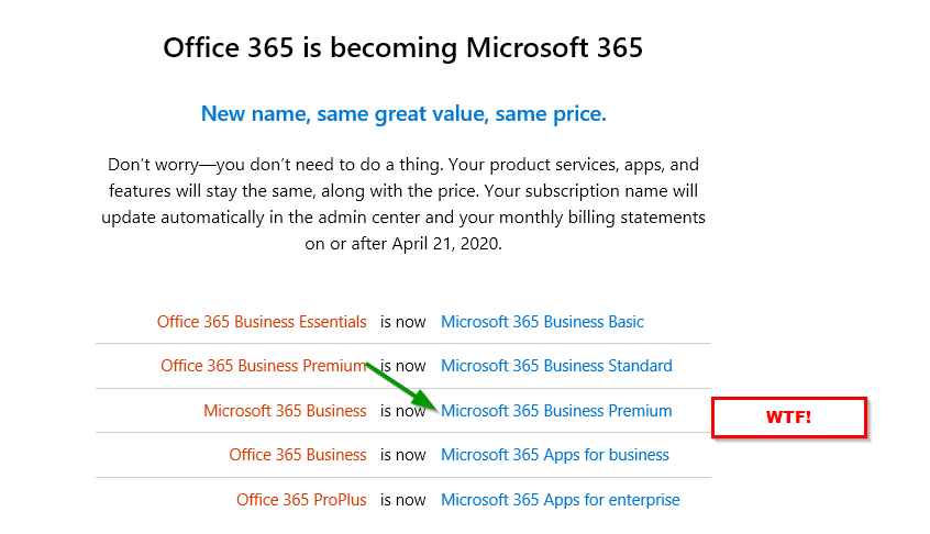 Même confinés, les as du marketing de #Microsoft savent se rendre indispensables ! https://t.co/rWGOWnwyhA #confusion #office365 #microsoft365 #microsoft366 #microsoft367 #etc.