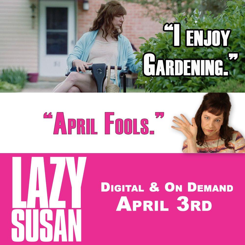 In 3 days. #LazySusanFilm