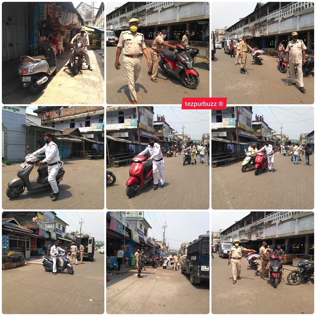 #CITY | It was instructed to citizens to avoid their vehicles. But they seemed to be ignorant. Thus several vehicles were seized by the Sonitpur Police, in presence of the Circle Officer from the Chowk Market premises and stored those vehicles at the Tezpur Sadar Thana. pic.twitter.com/RjNfCKGnBp