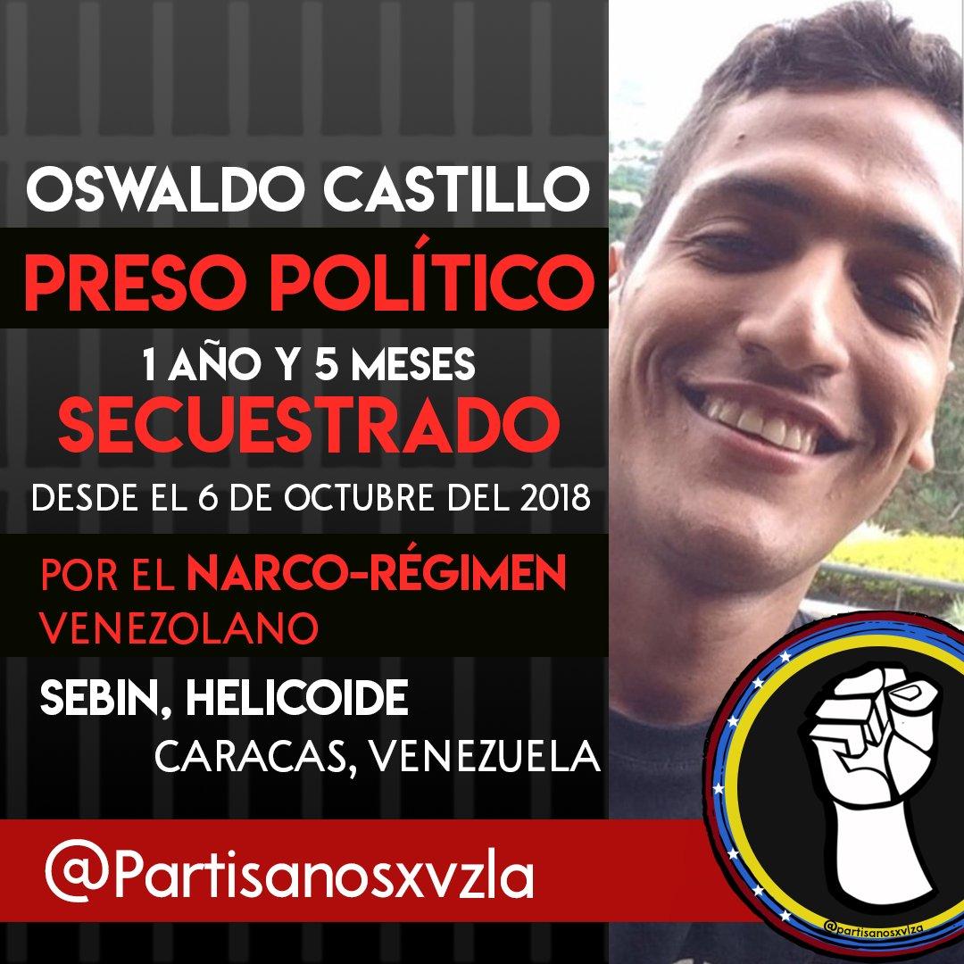 #LibertadParaTodosLosPresosPoliticos #LibertadParaOswaldoCastillo #AntiComunismo #Venezuela #OperacionLibertad #sosvenezuela #FueraMaduro #venezuelaquierecambio #VenezuelaDuele #venezuelalucha #venezolanosenelmundo pic.twitter.com/SH72INPMIp