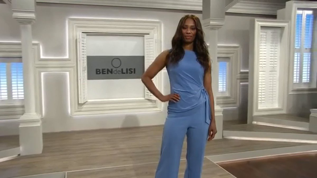 This short-sleeved jersey top from Ben de Lisi features a round neckline and side tie detail, creating a stunning focal point and providing an extra cinch to your waistline > bit.ly/2QYUwGW