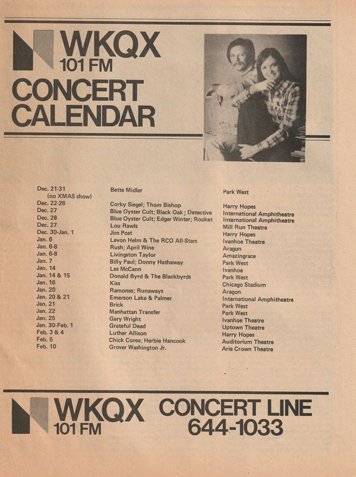 Shows around #Chicago . 1977 . pic.twitter.com/ryDSHiFNYh