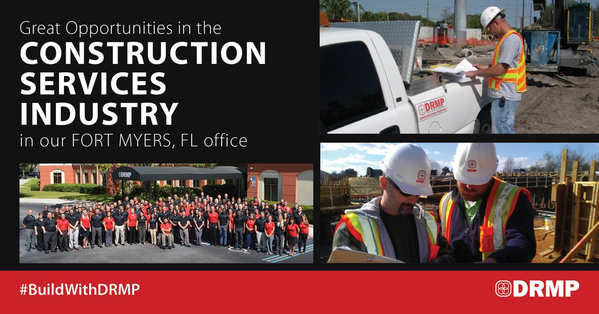 Join our growing Construction Inspection Team in our #FortMyers, FL office as a Project Administrator, Senior Project Engineer or Senior Inspector. Learn full details here: http://ow.ly/oDdx50z01OC  #BuildWithDRMPpic.twitter.com/TAoBuEK4Cp