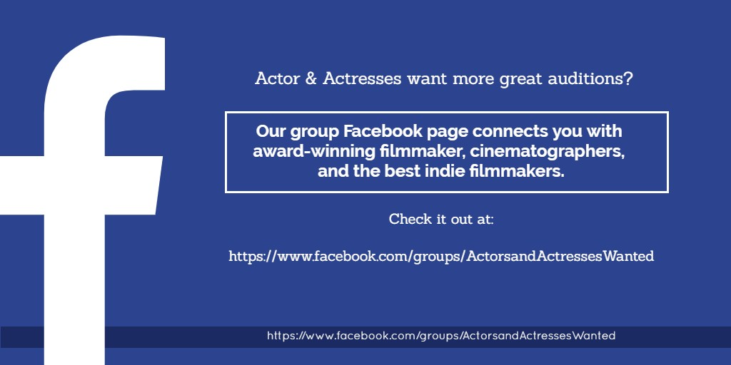 #Actor & #Actress want more great auditions? Work with the best #IndieFilmmakers .Our group FB page connects you with award-winning #Filmmakers #Showreels #Showreelshareday #NYCActor #acting #Audition #ActressLife #Actors #actorreel #actorlife #actorreel #actors #LAactor #NYCpic.twitter.com/Vf0VpJMvS3