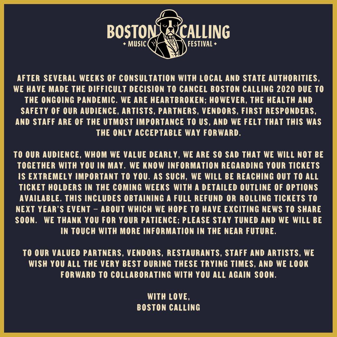 Boston Calling 2020