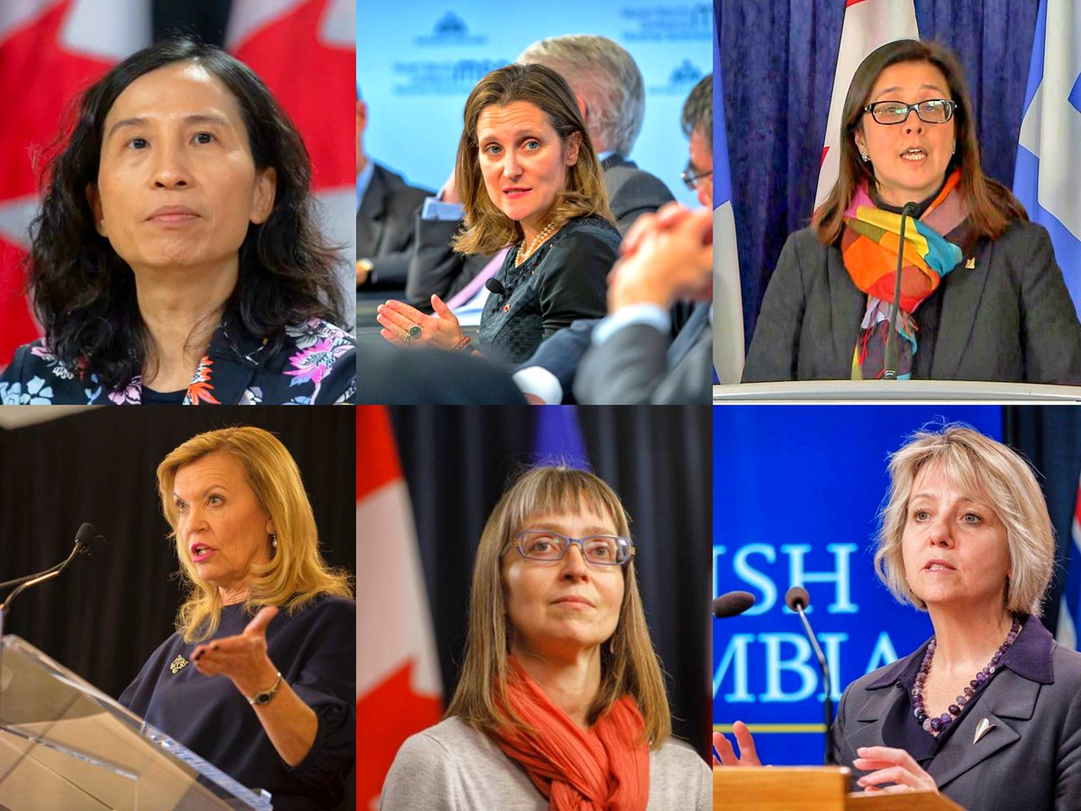 One of the most unique things about #Canada's response to #COVID19 is how it's being led almost entirely by #women. Whether Canada's Chief Public #Health Officer Dr. Theresa Tam or #Alberta's own top #doctor Dr. Deena Hinshaw, women are leading the way #Leadership #inspire #YYC pic.twitter.com/HtP7E1I0sA