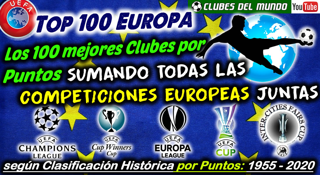 Top 100 Europa. Los 100 mejores Clubes por Puntos sumando todas las Competiciones Europeas de la UEFA https://www.youtube.com/watch?v=8stXiurl0rA… #Futbol #ChampionsLeague #EuropaLeague #UEFA #uefachampionsleague #Futebol #UEFAEuropaleague #RecopaDeEuropa #Europa #Youtube #toptrends #trendingtopicpic.twitter.com/TCUKvMlHlj