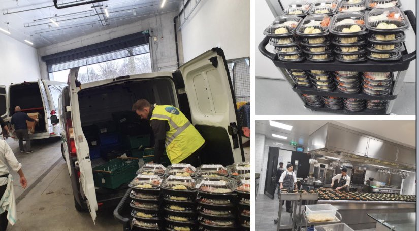 We're delighted to help the @feedtheheroes1 campaign as they support healthcare workers around the country. Thanks to our catering partners @ksgireland who have been working in the kitchens at #OneMicrosoftPlace to cook these meals #FuellingTheFrontline