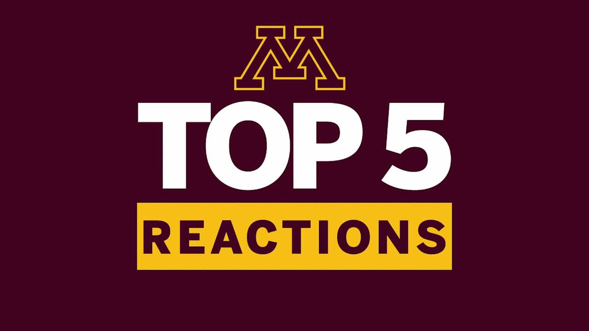 Get on the hype train with @GopherMBB. Which reaction is your favorite?