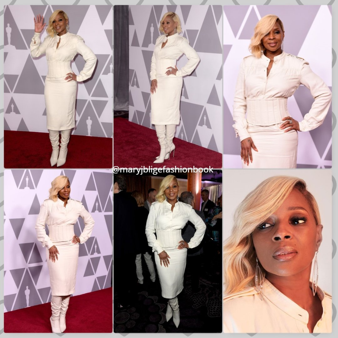 Event: 90th Annual Academy Awards Nominee Luncheon - February 5, 2018 @theacademy Wardrobe: Law Roach @luxurylaw Wearing: Tom Ford - Linen Corset Shirt Dress @tomford Boots: Le Silla @lesilla #oscars #variety #maryjblige #oscarnoms #blackexcellence #whiteonwhite #tomford #lesillapic.twitter.com/4zYDRpxF2g