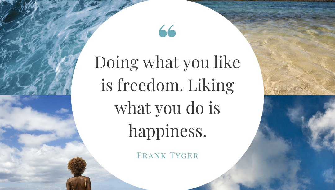 """""""Doing what you like is freedom. Liking what you do is happiness."""" - Frank Tyger   Sign up for """"behind the scenes"""" updates on the launch of my new book, I WISH YOU HAPPINESS, at http://www.PiccoPuppy.com. #happyquote #happyquotes #happyquotesforthesoul #iwishyouhappinesspic.twitter.com/lY73X1beU4"""