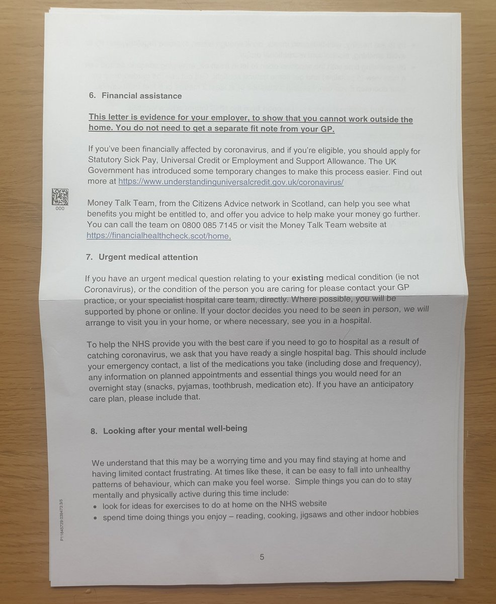 Rob Mcdowall On Twitter Got The Nhs Scotland Shielding Letter Today This Is What It Looks Like It Comes Out In A Clearly Marked Nhs Nhs Scotland Scottish Government Envelope So
