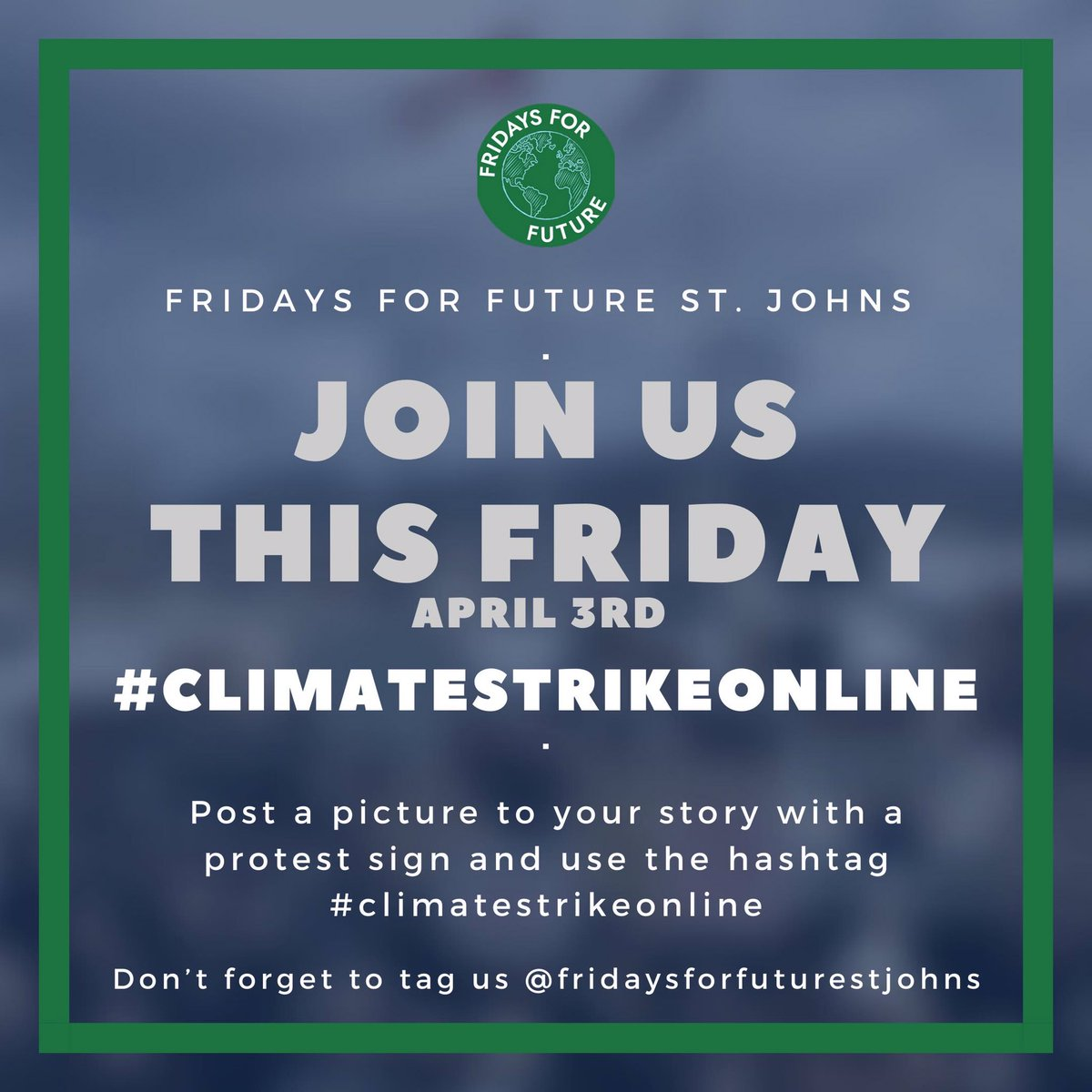 This Friday!! #ClimateStrikeOnline