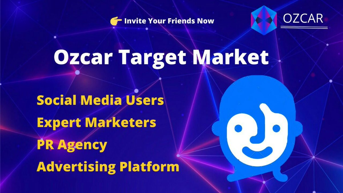 The target market for Ozcar is active social media users, expert marketers, advertisers and content makers along with PR platform. These people make a big percentage of social media traffic and help alot in overall growth  Visit Now: http://www.ozcar.io #ozcar #crypto #ETH pic.twitter.com/GUZ6rgjmKZ