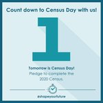 Image for the Tweet beginning: One day until Census Day!