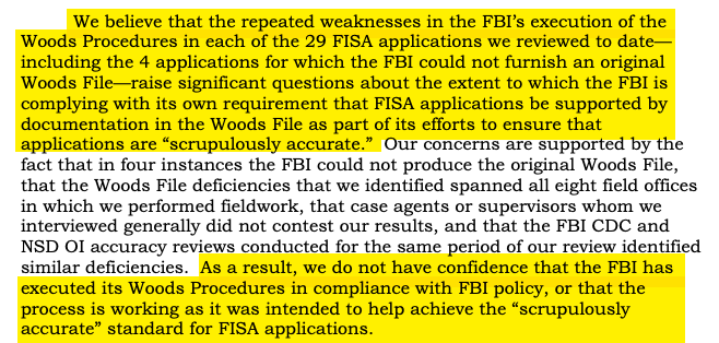 Remember when the newly beloved liberal heroes of the security state -- the FBI, NSA & DOJ agents who now make up huge parts of CNN & MSNBC and the liberal pantheon -- kept telling you the FISA process is very rigorous & immune to abuse? They lied: oig.justice.gov/reports/2020/a…