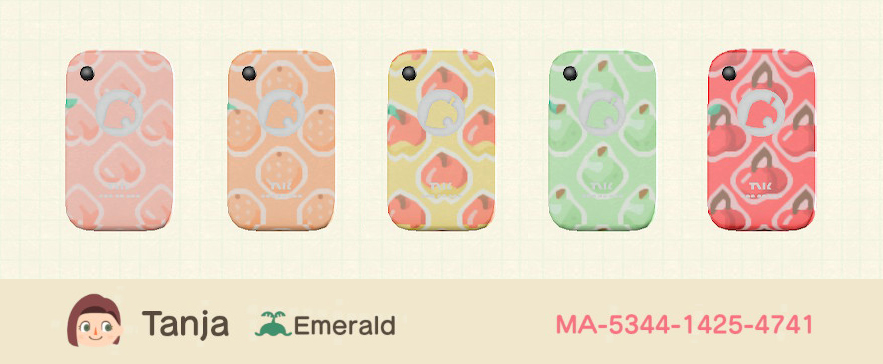🍎 NookPhone Case Designs 🍎#ACNH #ACNHDesign #AnimalCrossingNewHorizons #NookPhone #あつ森 #あつまれどうぶつの森