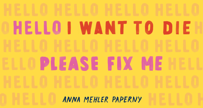 """The Experiment on Twitter: """"Today is the day!! Hello I Want to Die Please  Fix Me by @amp6 is available in the US! This necessary and groundbreaking  book takes a frank look"""