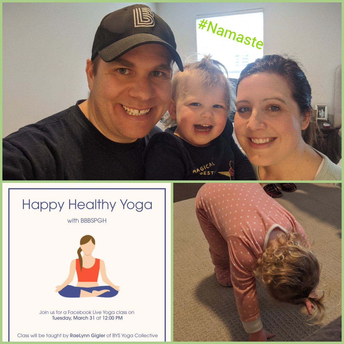 It's Namaste time, BBBS! Come get your Happy Healthy Yoga on with awesome instructor RaeLynn Harshman Gigler at Noon on BBBS Facebook Live! @gigs412  #BeABig pic.twitter.com/VIP6KjMXIR