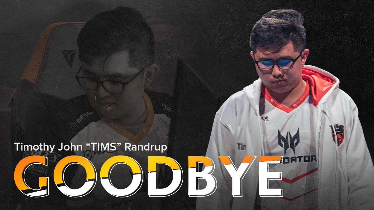 We thank Timothy Randrup, also known as TIMS, for the wonderful years we had as a team. Due to personal reasons, he is leaving our team, TNC Predator, for good.   #StrongerTogether #SummonYourStrength #GoodbyeTIMS<br>http://pic.twitter.com/ZsIEZIn2XX