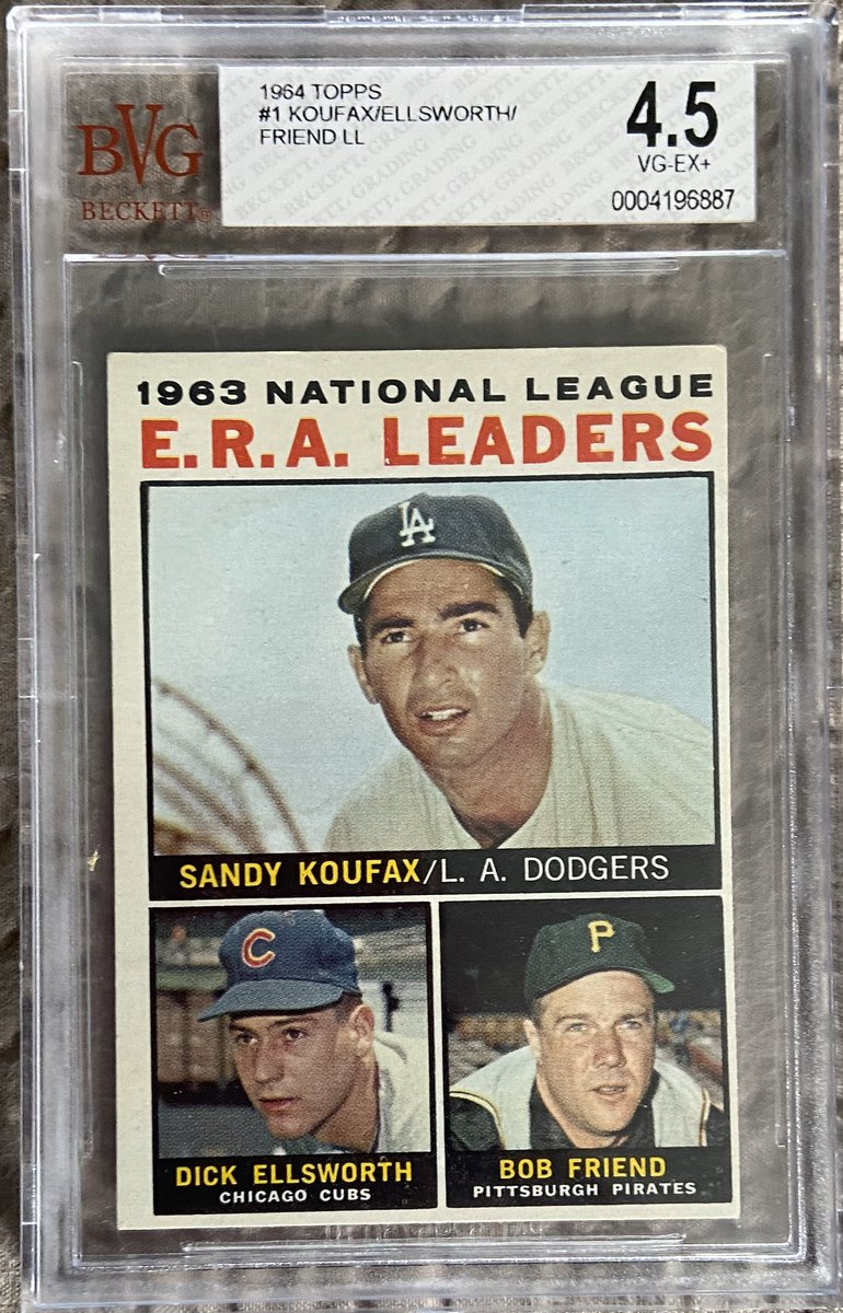 Today's #CoronaLockdown #TuesdayTreat giveaway is another vintage 1964 @Topps League Leaders Card. Just drop a comment if you want a chance to wn. Hope everyone is well! #thehobby #whodoyoucollect #mlb #dodgers #cubs #vintage<br>http://pic.twitter.com/x3XqYZlx91