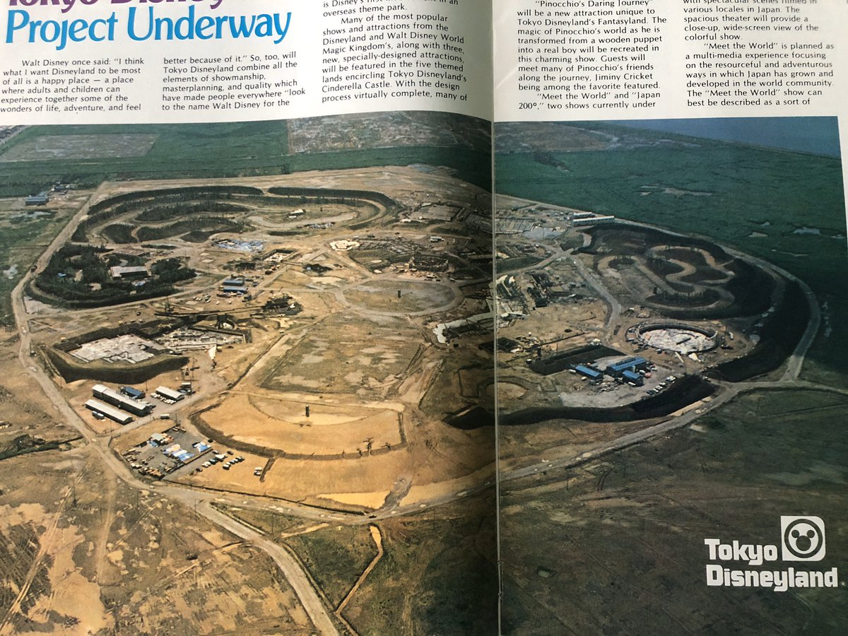 A cool picture of the construction of #TokyoDisneyland from this old #DisneyNews magazinepic.twitter.com/ddzNTybCuQ