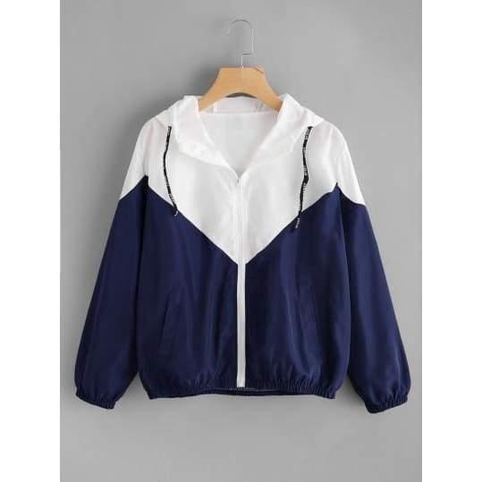 Two Tone Hooded Jacket  $  39.99.   https://pooo.st/vXVmQ  #jacket #coat pic.twitter.com/OePweR20rF