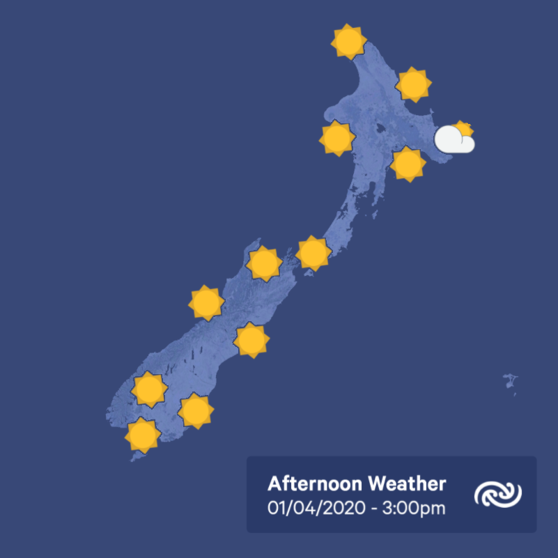 It might be cloudy now, but we expect mainly fine conditions for urban centres by this afternoon, with just a bit of cloud lingering in Gisborne. Low cloud returns for many areas tonight. Bit.ly/metservicenz ^AJ https://t.co/sUmh1crmKu