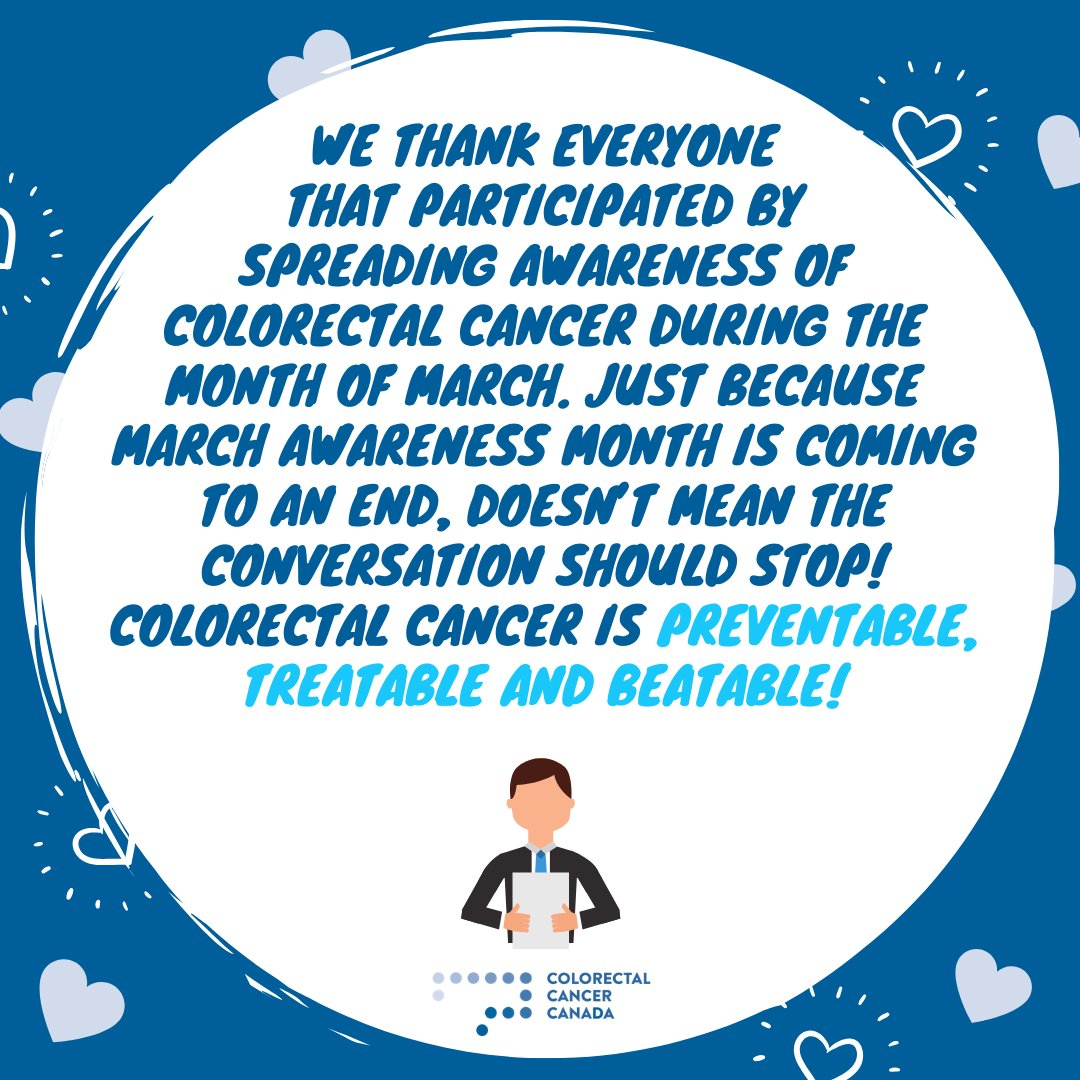 Colorectalcancercda On Twitter Colorectalcancerawarenessmonth