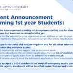 Image for the Tweet beginning: ANNOUNCEMENT | Applicants will no