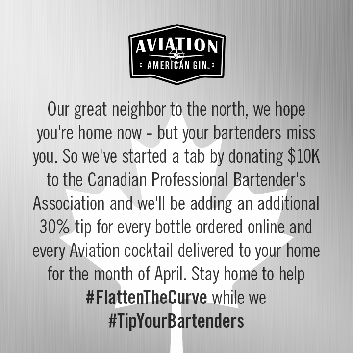 🇨🇦 Canada, you are a great neighbor - and as you do your part to #StayHomeSaveLives we'll #TipYourBartenders @BCBartender #cpba  https://t.co/jpBujxIrBu https://t.co/RH8iYOEL6J
