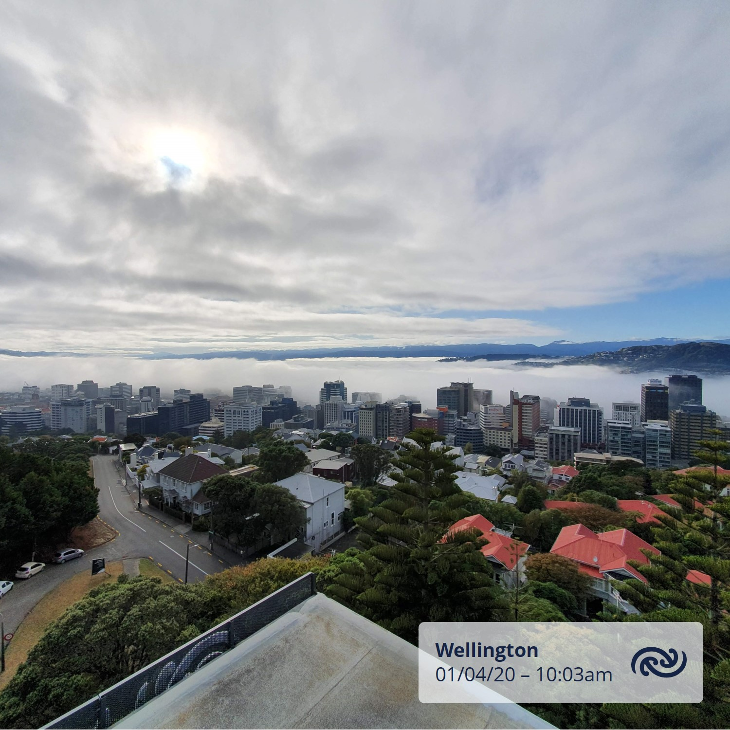 The fog is slowly retreating to #Wellington Harbour bit.ly/metservicenz ^PL https://t.co/HgTTZsEh3l