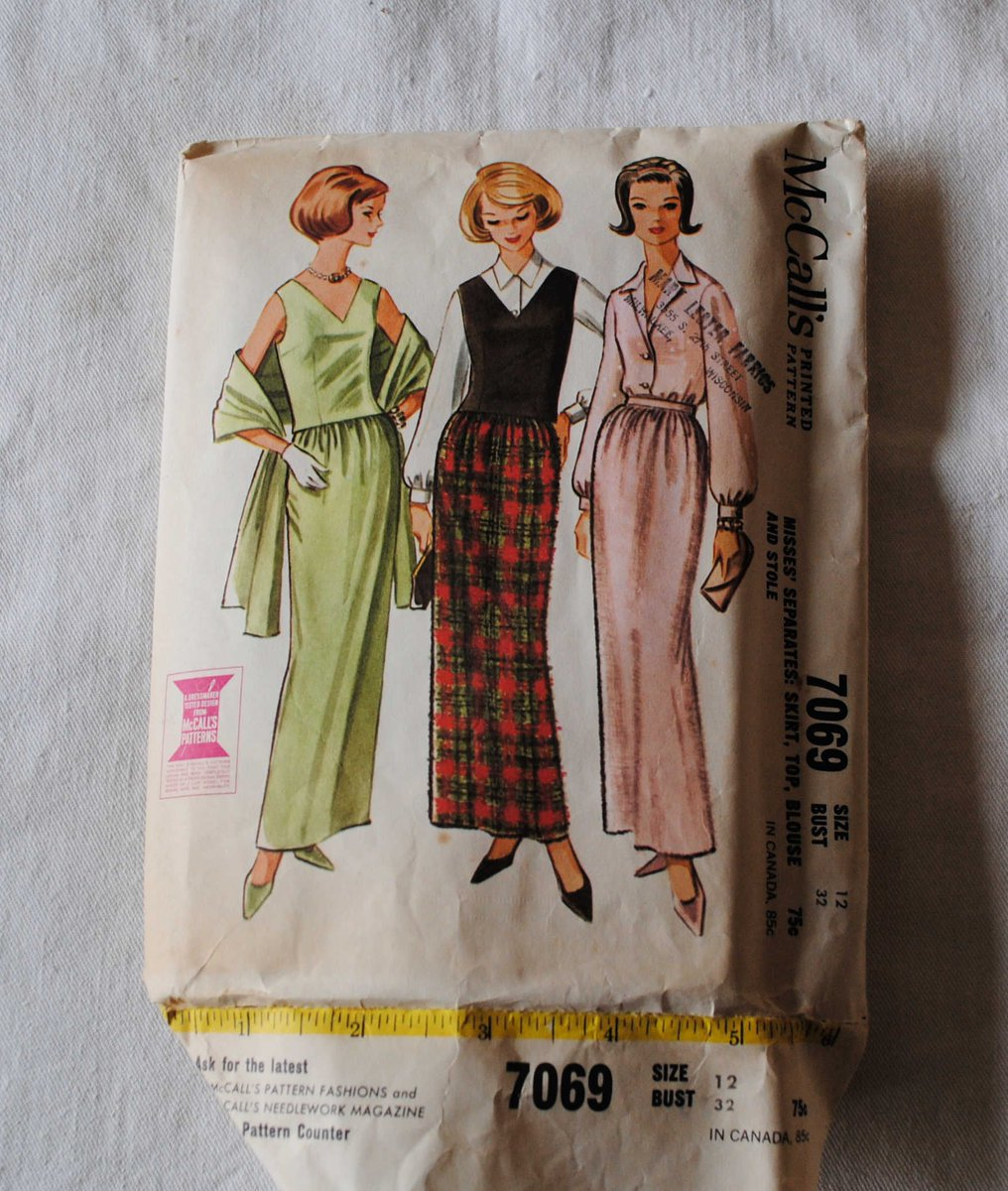 Ksf Designs Vintage On Twitter Sharing The Latest Addition To My Etsy Shop Size 12 Vintage 1960s Mccalls 7069 Sewing Pattern Misses Conservative Evening Gown Cocktail Dress Stole Blouse Skirt Bust 32