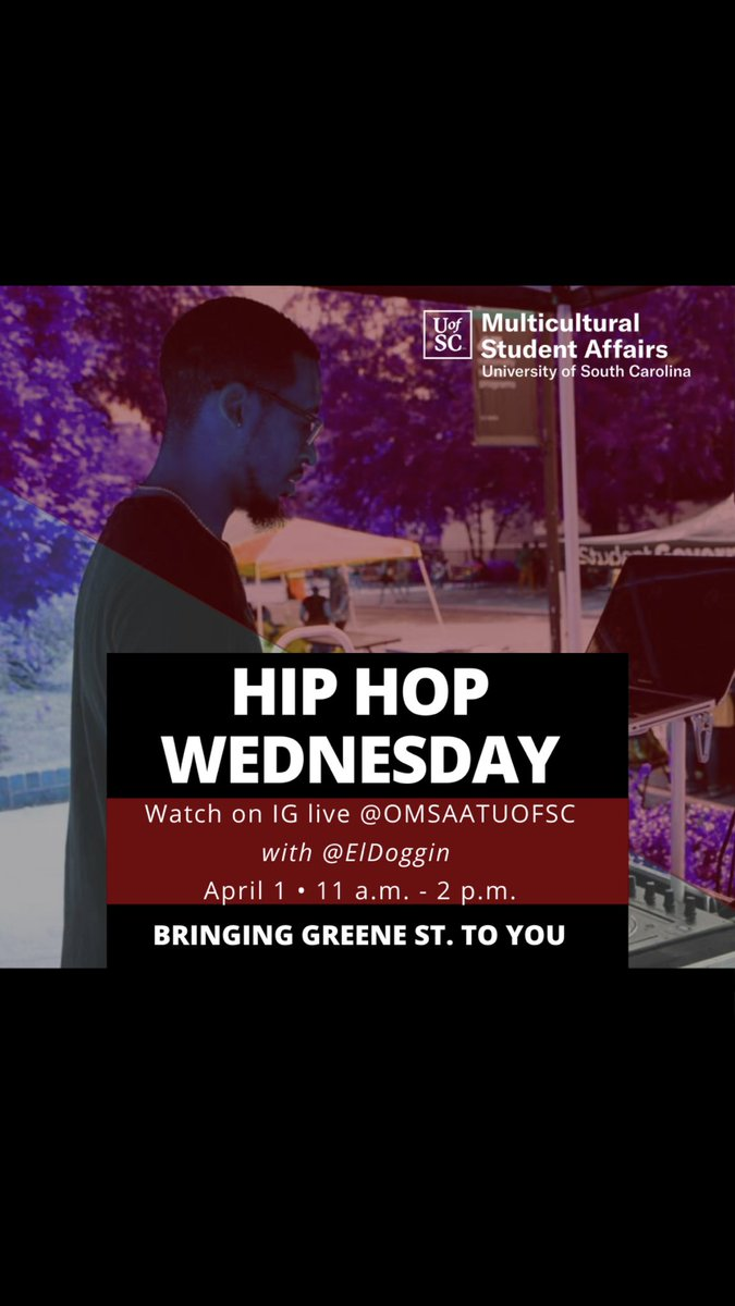 We are bringing Hip Hop Wednesday tomorrow to IG! Make sure you're following us on IG!