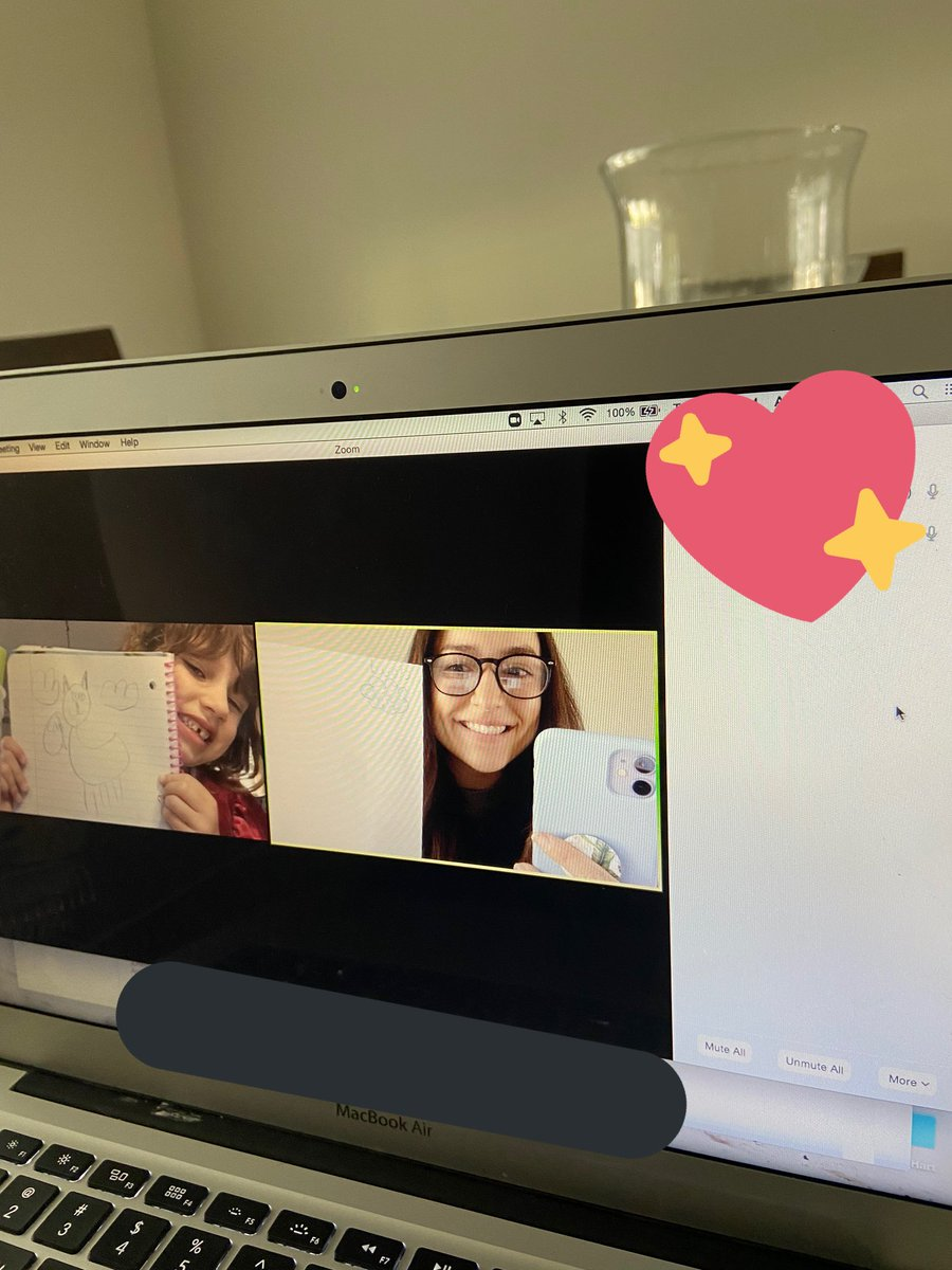 """Only had one friend on Zoom today but we had the best time playing games! """"Draw & label something with the beginning sound ___"""" @SarffAHLmedia #trustyhuskies pic.twitter.com/zClJ06dCWc"""