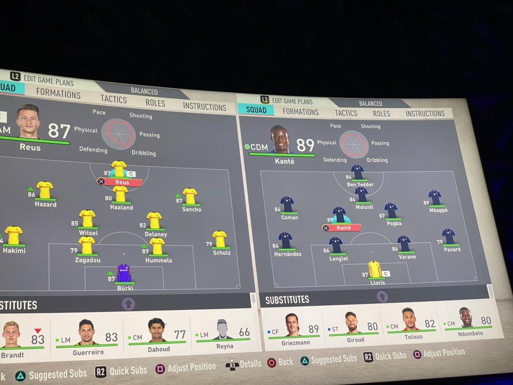 Who do you think will win   Dortmund vs France 😄😄 pic.twitter.com/A82oCF68FI