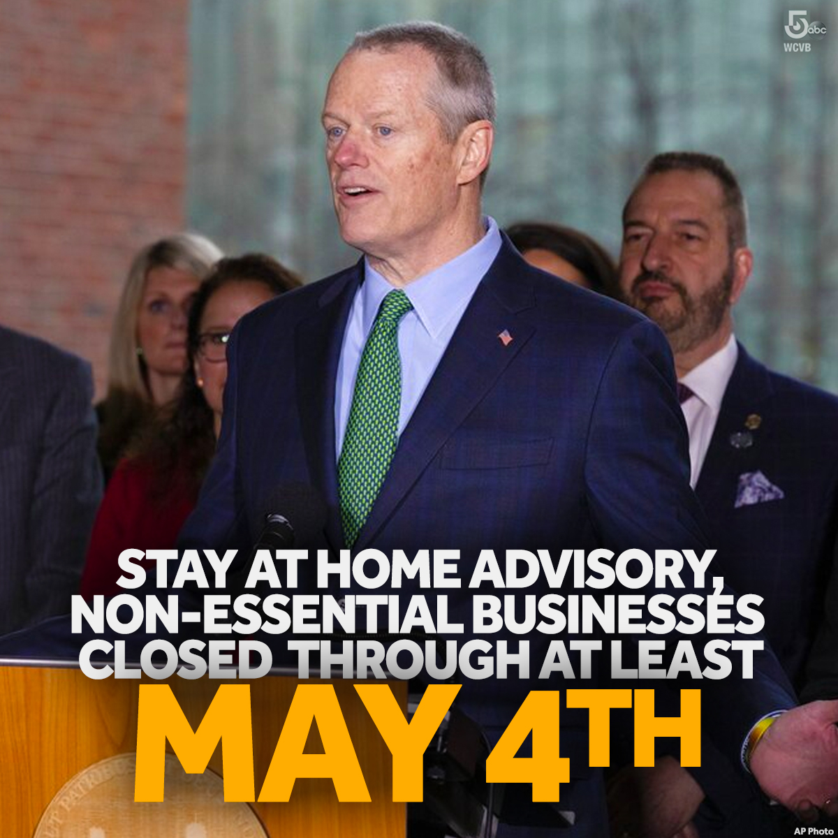#BREAKING: Mass. Gov. Charlie Baker has EXTENDED the stay at home advisory and order non-essential businesses remain closed through MAY 4th.  https://t.co/3o5JJq9x84 https://t.co/LWUAu0tvc1